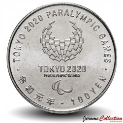 JAPON - PIECE de 100 Yen - Jeux paralympiques 2020, Tokyo - Athlétisme - 2019