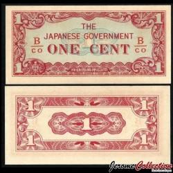 Birmanie (Gouvernement Japonais) - Billet de 1 Cent - 1942 P9b