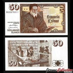 ISLANDE - Billet de 50 Kronur - Gudbrandur Thorlaksson - 1981 P49a3