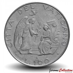 VATICAN - PIECE de 100 Lires - l'Annonciation - 1987
