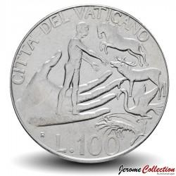 VATICAN - PIECE de 100 Lires - Adam nomme les animaux - 1988 Km#209
