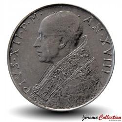 VATICAN - PIECE de 100 Lires - Fides (La foi) - 1956