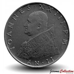 VATICAN - PIECE de 100 Lires - Fides (La foi) - Jean XXIII - 1960
