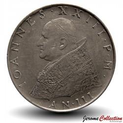 VATICAN - PIECE de 100 Lires - Fides (La foi) - Jean XXIII - 1961