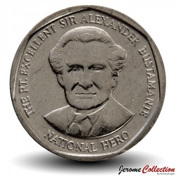 JAMAIQUE - PIECE de 1 Dollar - Sir Alexander Bustamante - 2015 Km#189