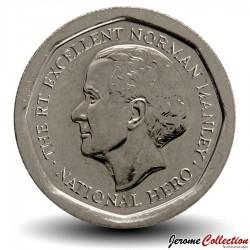 JAMAIQUE - PIECE de 5 Dollars - Norman Manley - 1996 Km#163