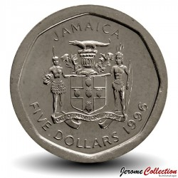 JAMAIQUE - PIECE de 5 Dollars - Norman Manley - 1996