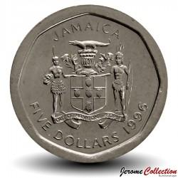 JAMAIQUE - PIECE de 5 Dollars - Norman Manley - 1996
