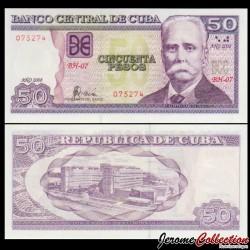 CUBA - Billet de 50 Pesos - Calixto García Iñiguez - 2008