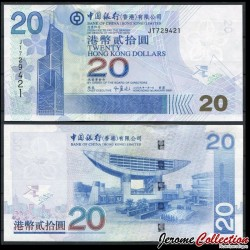 HONG KONG - Bank Of China (Hong Kong) Ltd - Billet de 20 DOLLARS - 2009 P335f