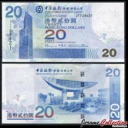 HONG KONG - Bank Of China (Hong Kong) Ltd - Billet de 20 DOLLARS - 2009 P335f