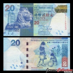 HONG KONG - HSBC - Billet de 20 DOLLARS - Fête de la mi-automne - 2010 P212a