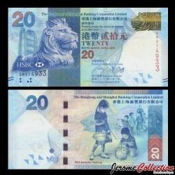HONG KONG - HSBC - Billet de 20 DOLLARS - Fête de la mi-automne - 2010
