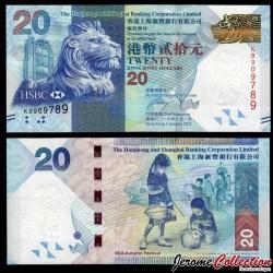 HONG KONG - HSBC - Billet de 20 DOLLARS - Fête de la mi-automne - 2013 P212c