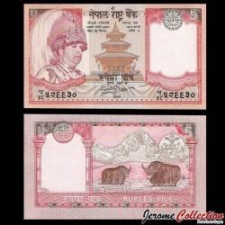 NEPAL - Billet de 5 Roupies - Yaks - 2001