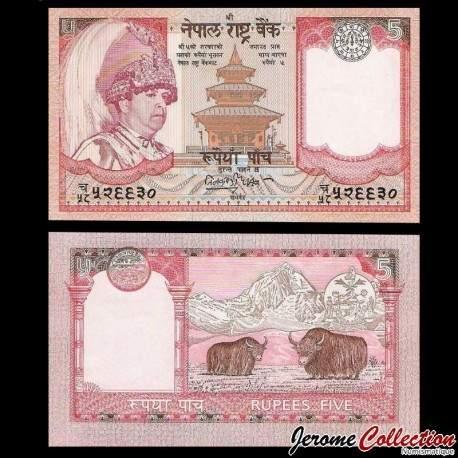 NEPAL - Billet de 5 Roupies - Yaks - 2001 P53a