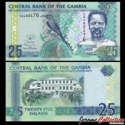 GAMBIE - Billet de 25 Dalasis - Oiseau Guêpier carmin - 2006