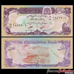 AFGHANISTAN - Billet de 20 Afghanis - 1979