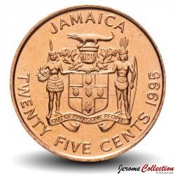 JAMAIQUE - PIECE de 25 Cents - Marcus Garvey - 1995