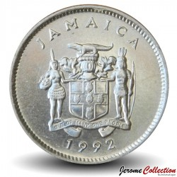 JAMAIQUE - PIECE de 5 Cents - Crocodile américain - 1992
