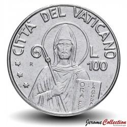 VATICAN - PIECE de 100 Lires - Saint Benoît - 1990