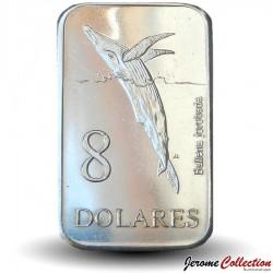 GALAPAGOS - PIECE de 8 Dollars - Baleine - 2008