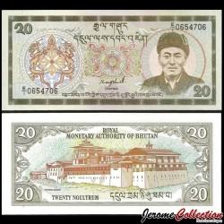 BHOUTAN - Billet de 20 Ngultrum - Dzong de Punakha - 1986 P16a