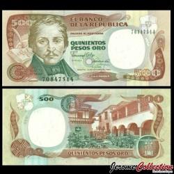 COLOMBIE - Billet de 500 Pesos Oro - 1990 P431a.4