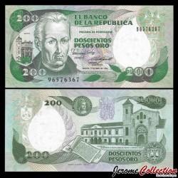 COLOMBIE - Billet de 200 Pesos Oro - 01.04.1989 P429d.4