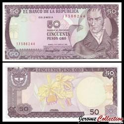 COLOMBIE - Billet de 50 Pesos Oro - Camilo Torres Tenorio - 01.01.1986 P425b