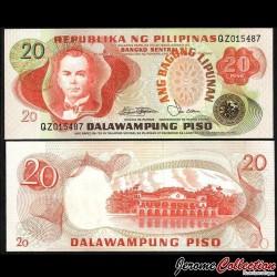 PHILIPPINES - Billet de 20 Piso - Manuel Quezon - 1978