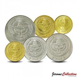 KIRGHIZISTAN - SET / LOT de 6 PIECES de 1 10 50 Tyiyn 1 3 5 Som - 2008 / 2009