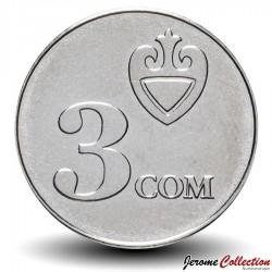KIRGHIZISTAN - PIECES de 3 Som - 2008 Km#15