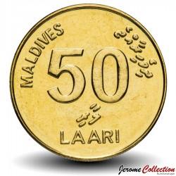 MALDIVES - PIECE de 50 Laari - Tortue de mer - 2008