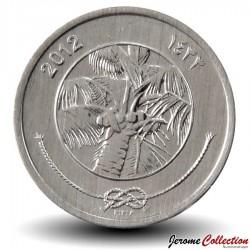 MALDIVES - PIECE de 1 Laari - Cocotier - Fao - 2012 Km#113