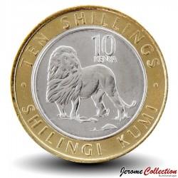KENYA - PIECE de 10 shillings - Bimétal - Lion - 2018 Km#new