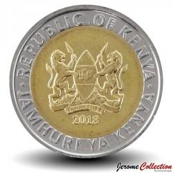 KENYA - PIECE de 5 shillings - Bimétal - Rhinocéros - 2018