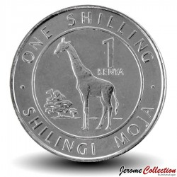 KENYA - PIECE de 1 shilling - Girafe - 2018 Km#new