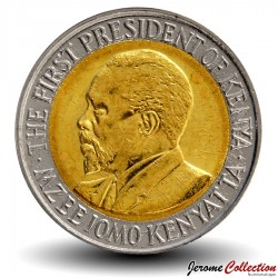 KENYA - PIECE de 20 shillings - Bimétal - Jomo Kenyatta - 2010 Km#36.2