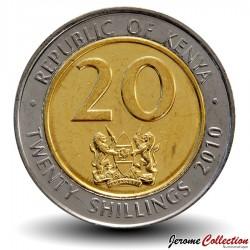 KENYA - PIECE de 20 shillings - Bimétal - Jomo Kenyatta - 2010