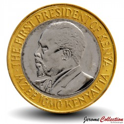 KENYA - PIECE de 10 shillings - Bimétal - Jomo Kenyatta - 2005