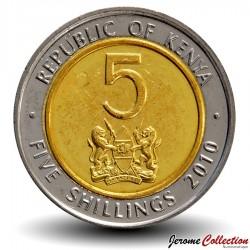 KENYA - PIECE de 5 shillings - Bimétal - Jomo Kenyatta - 2009 Km#37.1