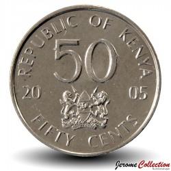 KENYA - PIECE de 50 Cents - Mzee Jomo Kenyatta - 2005