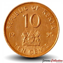 KENYA - PIECE de 10 Cents - Daniel arap Moi - 1995