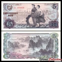 COREE DU NORD - Billet de 5 Won - Montagnes de Kumgang - 1978 P19a