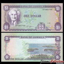 JAMAIQUE - Billet de 1 DOLLAR - Sir Alexander Bustamante - 1.7.1989 P68Ac
