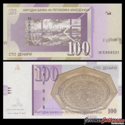 MACEDOINE DU NORD - Billet de 100 Denari - Ville de Skopje - 2009