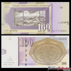 MACEDOINE DU NORD - Billet de 100 Denari - Ville de Skopje - 2008