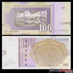 MACEDOINE DU NORD - Billet de 100 Denari - Ville de Skopje - 2002