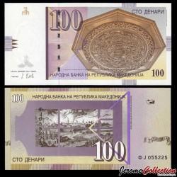 MACEDOINE DU NORD - Billet de 100 Denari - Ville de Skopje - 2013 P16k